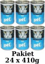 Pet z rybą Pakiet puszek dla kota 24x410g