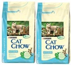 Purina Cat Chow Kitten 2x15kg (30kg) z Kurczakiem