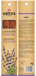 Natural Incense Sticks Lavender, Sattva, 30g