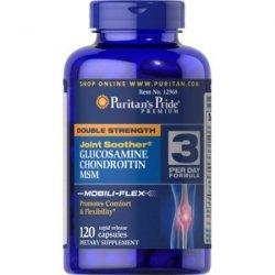 Double Strength Glucosamine, Chondroitin & MSM, (Glukozamina, Chondroityna, Kolagen) Puritan's Pride 120 Tabletek