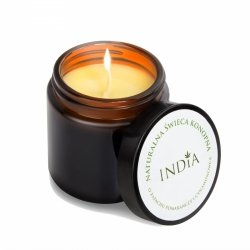 Hemp Candle for Body Care, Massage and Aromatherapy