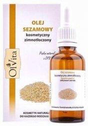 Cosmetic Sesame Oil, Cold-pressed, 100% Natural, Olvita