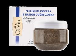 Peeling / Maseczka z Pestek Ogórecznika, Olvita, 100g