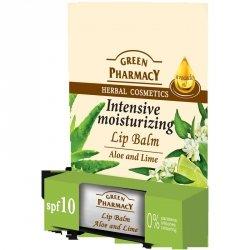 Balsam do Ust Intensywnie Nawilżający, Aloes i Limonka SPF 10