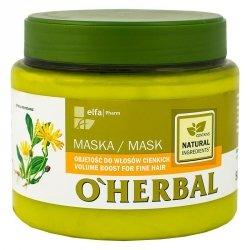 Maska Zwiększająca Objętość Cienkich Włosów z Ekstraktem z Arniki, O'Herbal