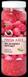 Sól do Kąpieli Litchi & Patchouli, Fresh Juice, 700g