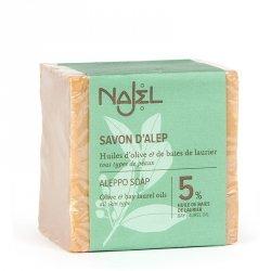 Mydło z Aleppo Oliwa z Oliwek i 5% Oleju Laurowego, Najel, 200g