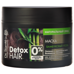 Maska do Włosów Odżywiająca i Wzmacniająca Bambusowy Węgiel Dr.Sante Detox Hair