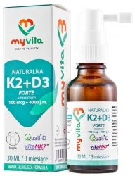 MyVita Witamina K2 MK-7+ D3 w kroplach 30 ml