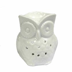 Sowa Biała Kominek Zapachowy Ceramiczny