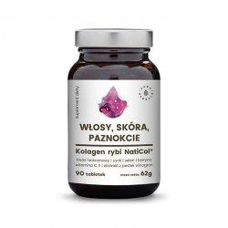 Kolagen Rybi NatiCol, Włosy, Skóra, Paznokcie, Aura Herbals, 90 tabletek