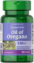 Olej z Oregano Oil of Oregano Extract 1500 mg/90 kaps., Puritan's Pride