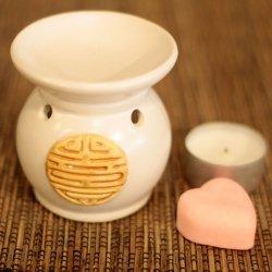 Kominek Ceramiczny Yin Yang Biały