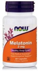 Melatonina 3 mg, Now Foods, 60 kapsułek