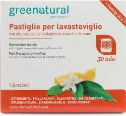 Tabletki do Zmywarek Pomarańcza i Cytryna Greenatural, 50 sztuk
