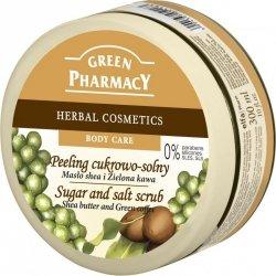 Сахарно-солевой Скраб масло ши и зеленый кофе, Зеленая аптека