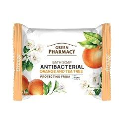 Мыло с апельсином и чайным деревом, антибактериальное, Зеленая аптека