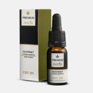 Ekstrakt z Konopi C.B.D 30%, India Cosmetics, 10ml