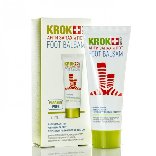 """Foot Balm KROK MED """"Anti-smell And Sweat"""", 75 ml"""