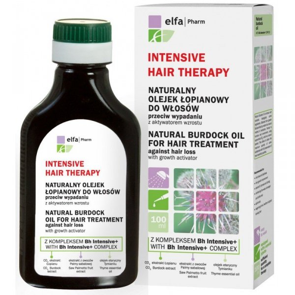 Natural Burdock Oil for Hair with Bh Intensive+ complex against hair loss with hair growth activator