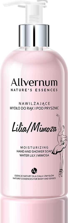 Lilia Wodna i Mimoza Nawilżające Mydło do Rąk i pod Prysznic, Allvernum