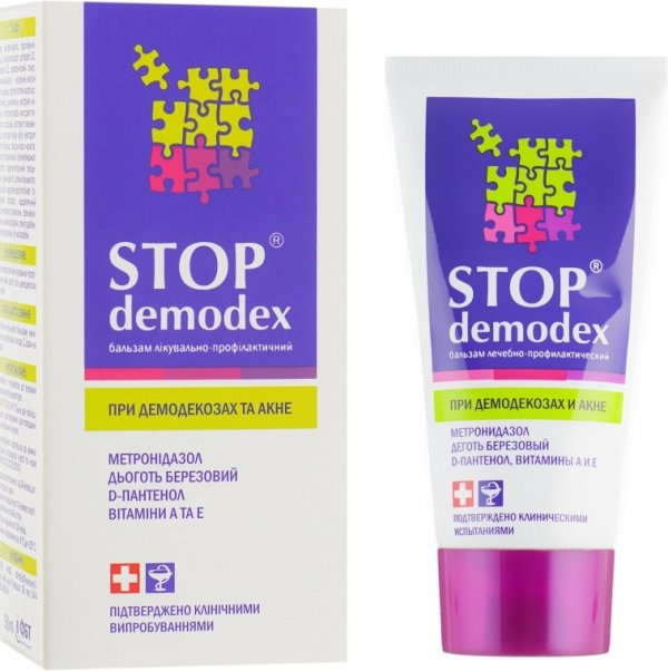 Balsam Stop Demodex/ Demodekoza, Nużyca, Trądzik, 50 ml
