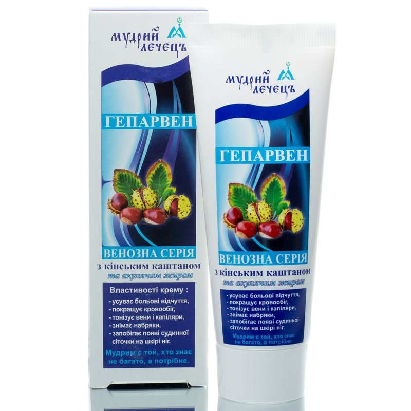 Heparven Leg Cream with Chestnut and Shark Oil, 75 ml