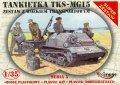 Mirage 35515 1/35 Tankietka TKS-MG15 z Wózkiem Transportowym