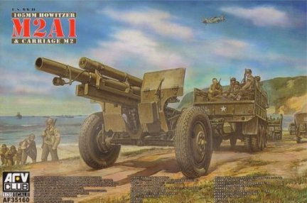 AFV Club AF35160 1/35 105 mm howitzer M2A1 Carriage M2 (WWII wersion)