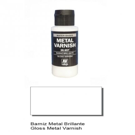 Vallejo 26657 | 60 ml | GLOSS Metal Varnish