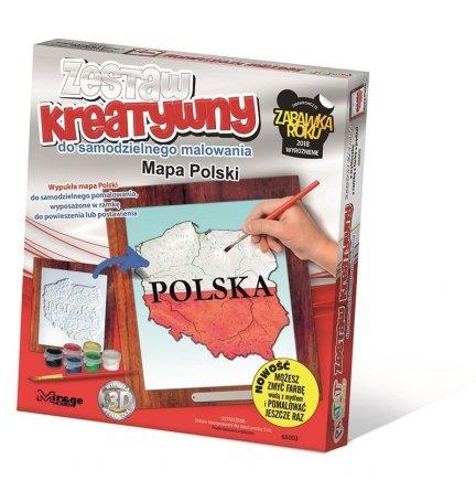 Mirage 65003 [Wypukła Malowanka] – Mapa Polski