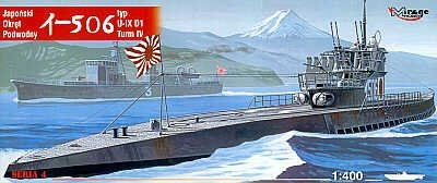 Mirage 40046 1/400 I-506 typ IXD1 turm IV japoński okręt podwodny