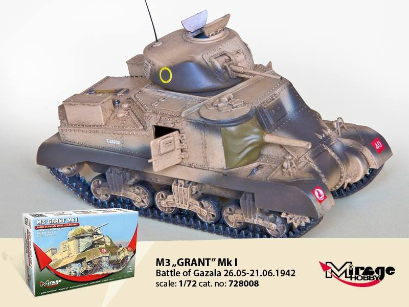 Mirage 728008 1/72 M3 GRANT Mk.I 'Battle of GAZALA' 26.05-21.06.1942