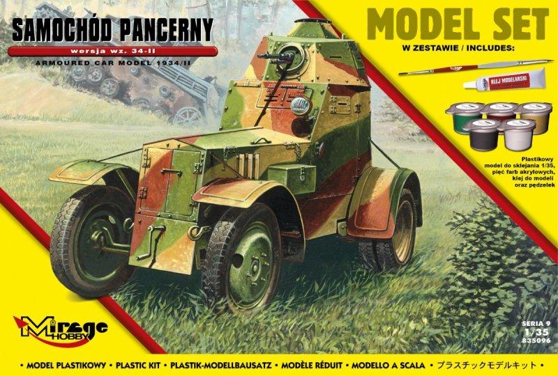 Mirage 835096 1/35 [MODEL SET]  Samochód Pancerny Wz. 34-II
