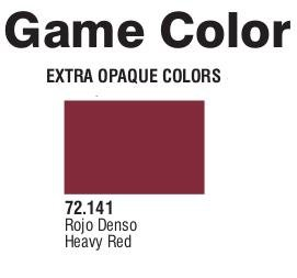 Game Color (72141) Extra Opaque | Heavy Red 17 ml.