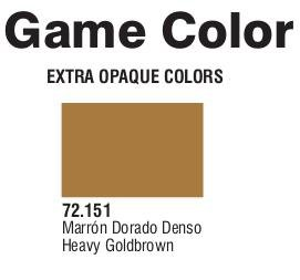 Game Color (72151) Extra Opaque | Heavy Gold Brown 17 ml.