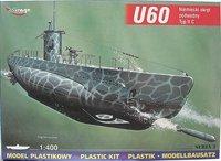 Mirage 400205 1/400 U60 typ II C niemiecki okręt podwodny