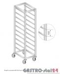 Regał na pojemniki lub tace na stópkach DM 3322/S  szerokość: 660 mm, wysokość: 1600 mm  (600x660x1600)