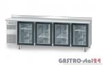 Stół chłodniczy z drzwiami przeszklonymi z płytą wierzchnią nierdzewną DM 94008 2325x700x850