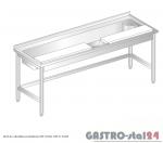 Stół do obróbki produktów DM 3238 szerokość: 600 mm  (1800x600x850)