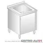 Stół ze zlewem i szafką DM 3210 szerokość: 700 mm (600x700x850)