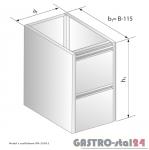 Moduł z szufladami DM 3109.1 szerokość: 585 mm  (400x585x650)