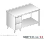 Stół z szufladami i półką DM 3114 szerokość: 700 mm (1000x700x850)