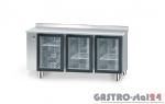 Stół chłodniczy z drzwiami przeszklonymi bez agregatu z płytą wierzchnia nierdzewną DM 90006 1625x600x850