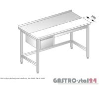 Stół z płytą do krojenia i szufladą DM 3106 szerokość: 600 mm (1000x600x850)