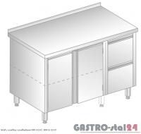 Stół z szafką i szufladami DM 3127 szerokość: 600 mm (1200x600x850)