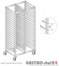 Regał na pojemniki lub na tace na kółkach DM 3323/K  szerokość: 550 mm, wysokość: 1600 mm  (770x550x1600)