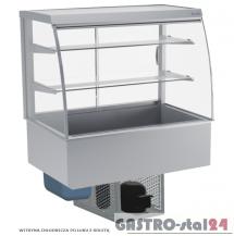 Witryna chłodnicza po łuku z roletą DM-94950.2R wym. 770x714x1429mm