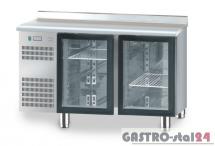 Stół chłodniczy z drzwiami przeszklonymi z płytą wierzchnią nierdzewną DM 94005 1325x700x850