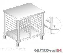 Wózek do transportu pojemników 2x1/1GN DM 3419 szerokość: 600 mm  (790x600x850)